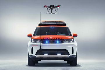 Land Rover Discovery krijgt hulp van drone