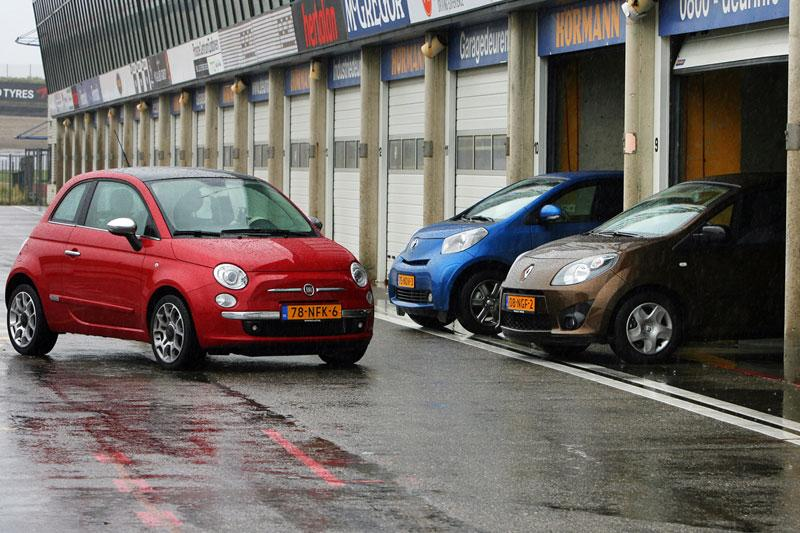 Fiat 500 Twin Air 85 - Renault Twingo 1.2 16V CO2 - Toyota iQ 1.0 VVT