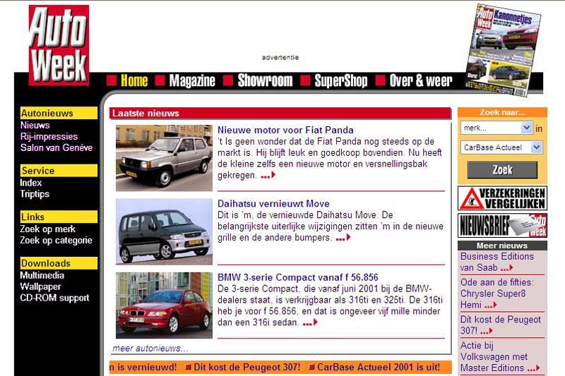 AutoWeek site 2000