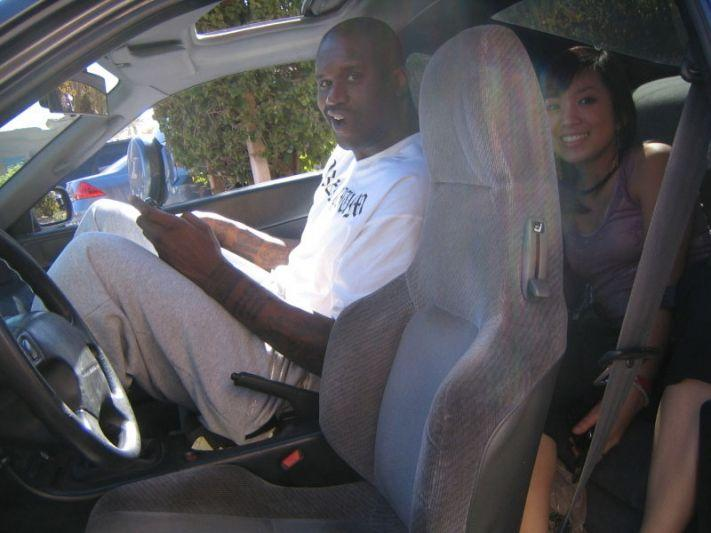 Shaquille O'Neal in Honda Prelude