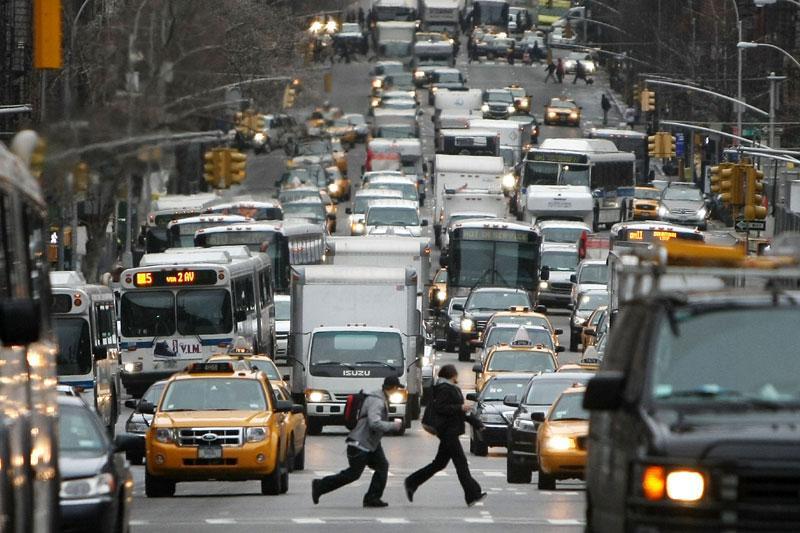 Verkeer in New York   Foto: ANP/AFP