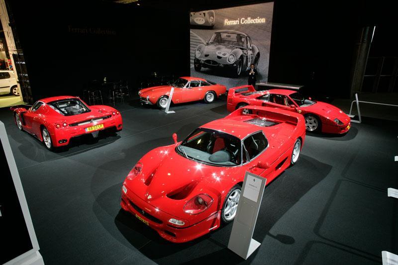 Vier legendarische Ferrari's bij elkaar