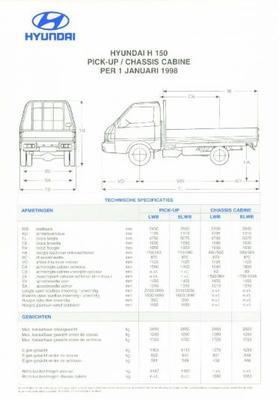 Hyundai H150 Pick-upchassis Cabine