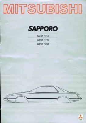 Mitsubishi Sapporo 1600glx,2000gls,2000grs