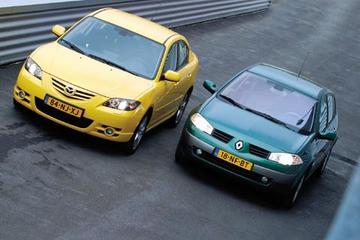 Mazda3 sedan 1.6 Executive – Renault Mégane 1.6 16V Expression Comfort sedan
