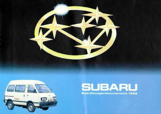 Subaru Bestelwagen,stationwagen E10 Van,e12 Van,sd