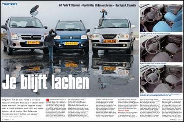 Fiat Panda 1.2 Dynamic – Hyundai Atos 1.1i DynamicVersion – Opel Agila 1.2 Essen