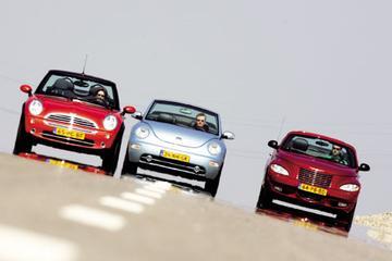 Mini Cooper Cabrio – Volkswagen New Beetle cabrio 1.8T – Chrysler PT Cruiser cab