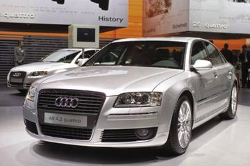 Alle Audi's A8 met W12-grille