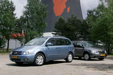 Kia Carnival 2.7 V6 EX Luxe Automaat – Chrysler Grand Voyager 3.3i V6 SE Luxe Au