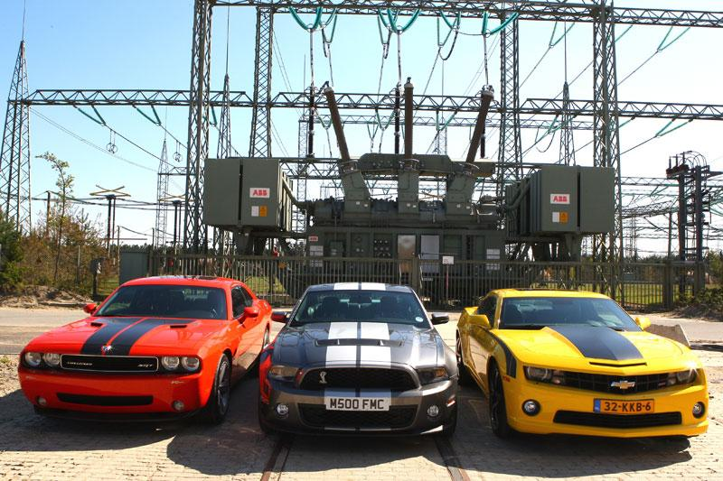 De drie muscle cars
