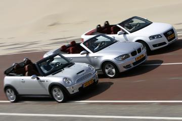 Mini Cabrio-BMW 1-serie Cabrio-Audi A3 Cabrio