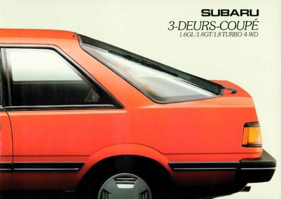 Subaru 3 Deurs Coupe 1.6gl,1.8gt,1.8turbo 4wd