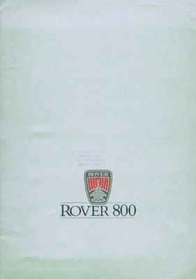 Rover Rover 800 820 Si,820i,sterling