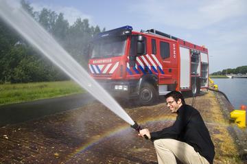 Rijden in een brandweerauto