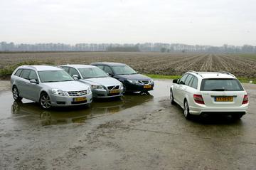 Cadillac BLS Wagon-Volvo V50-Mercedes C-klasse Estate-Saab 9-3 Sport Estate
