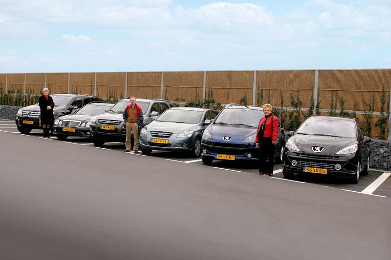 Mercedes-Benz ML - Mercedes-Benz E combi - Kia Sportage - Kia Cee'd - Peugeot 10