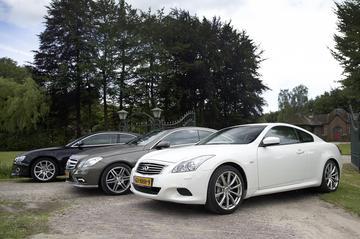 Audi A5 Coupé 3.2 FSI - Infiniti G37S Coupé - Mercedes-Benz E350 CGI Coupé