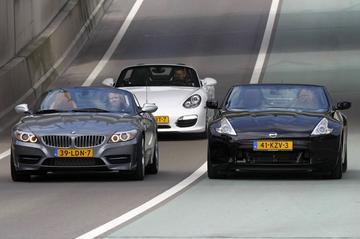 BMW Z4 sDrive35is - Nissan 370Z Roadster - Porsche Boxster S