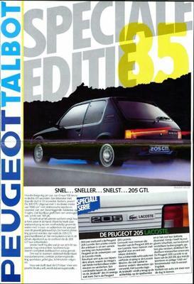 Peugeot Lacoste,solara,break 205 Gti