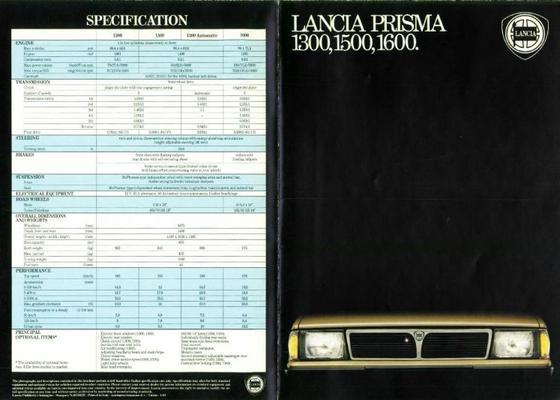 Lancia Prisma 130.015.001.600