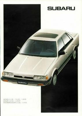 Subaru Sedan,coupe,stationwagen Dl,gl,gt
