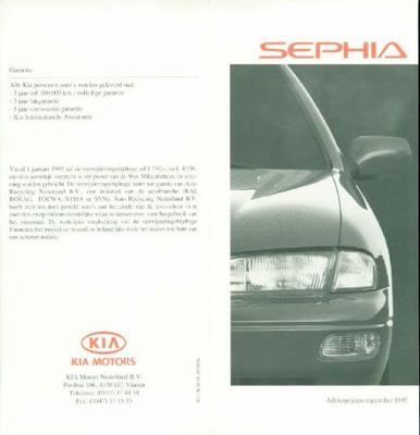 Kia Sephia 1,6 Egi, 1,6 Slx, 1,6 Nlx, 1,6 Gtx,