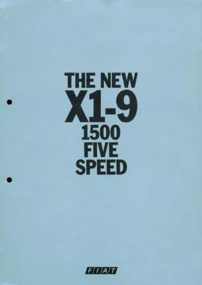 Fiat X1-9 1500 Five Speed
