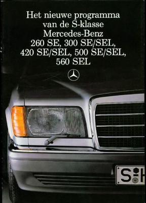Mercedes-benz S Serie 260 Se,300 Se,300 Sel,420 Se