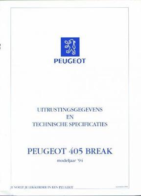 Peugeot 405 Break,sedan Gl,gld,gr,grd,grdt,sr,sri,