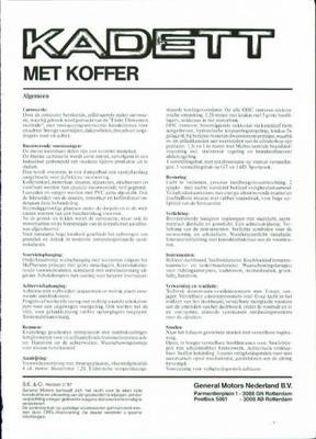 Opel Opel Kadett Met Koffer