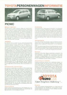 Toyota Picnic Gl,gx