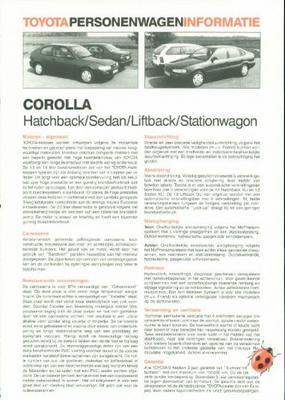 Toyota Corolla Xl,gl,gts,1.3i,hb,sdn