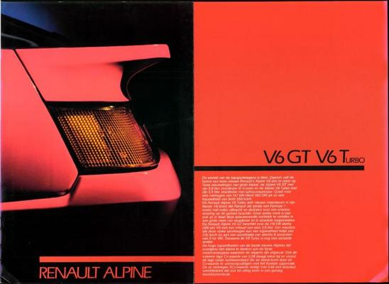 Renault Alpine V6gt,v6turbo