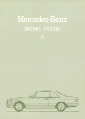 Mercedes-benz 380 Sec 500 Sec