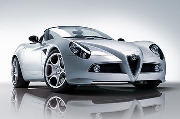 Alfa Romeo 8C Competizione Spyder aan de prijs