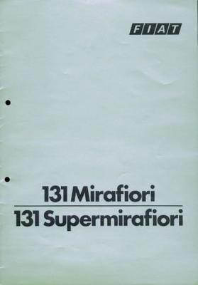 Fiat 131 Mirafiori 131 Supermirafiori 131 Cl,131 L