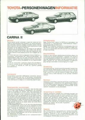 Toyota Carina Ii Sedan Dl, Sedan Xl,sedan Gl, Lift