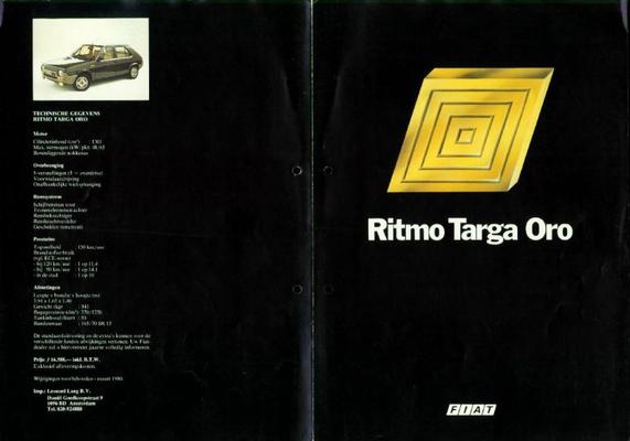 Fiat Ritmo Targa Oro 65 Cl,65 L,75 Cl