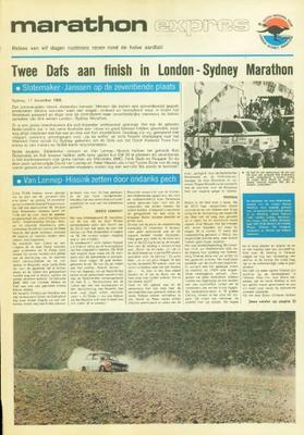Daf 55 Krant Over Marathon Londen-sydney