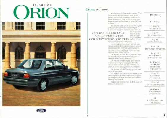 Ford Orion Ghia Si,gl,glx,xld,cl