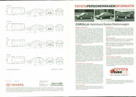 Toyota Corolla Hb,sdn,stw,xl,gx,gts,1.3i