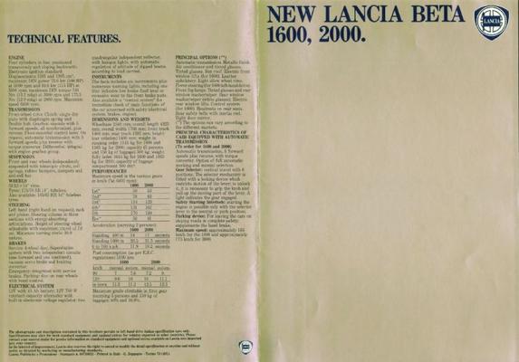 Lancia Beta 1600,2000i.e.