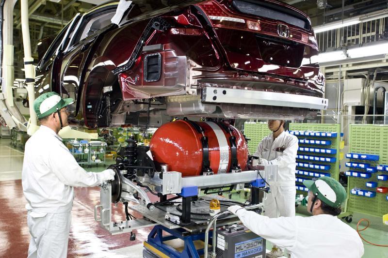 Honda FCX op waterstof in productie