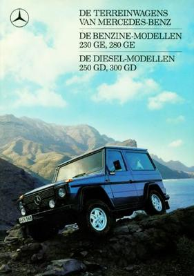 Mercedes-benz 230ge,280ge,250gd,300gd Terreinwagen
