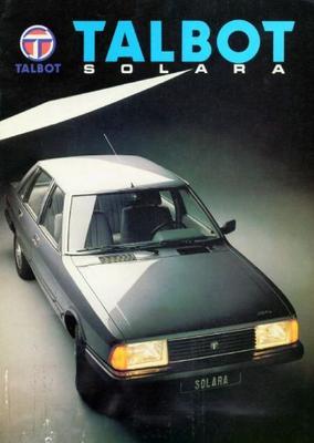 Talbot Solara Ls,gl,gls,sx,1.6