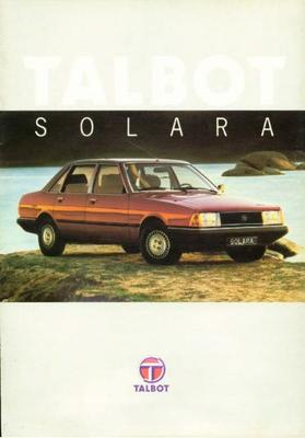 Talbot Solara Ls,gl,gls,sx1980
