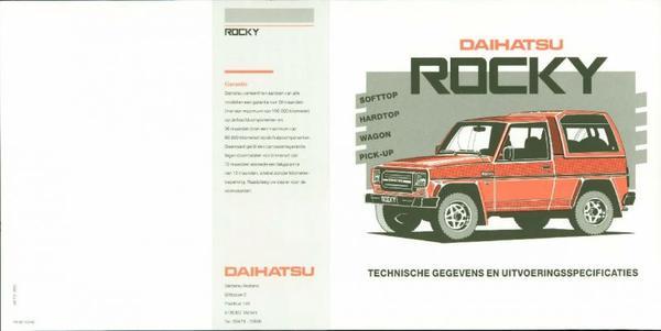Daihatsu Rocky Wagon,diesel,turbo,softtop,hardtop,
