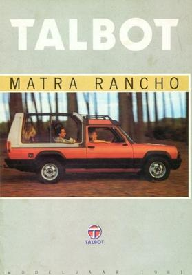 Talbot Matra Rancho,rancho Decouvrable,grand Raid
