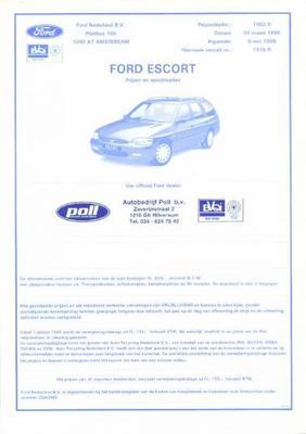 Ford Escort Rs,ghia,cabrio Pacific